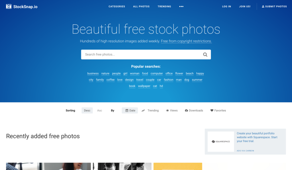 StockSnap.joサイト