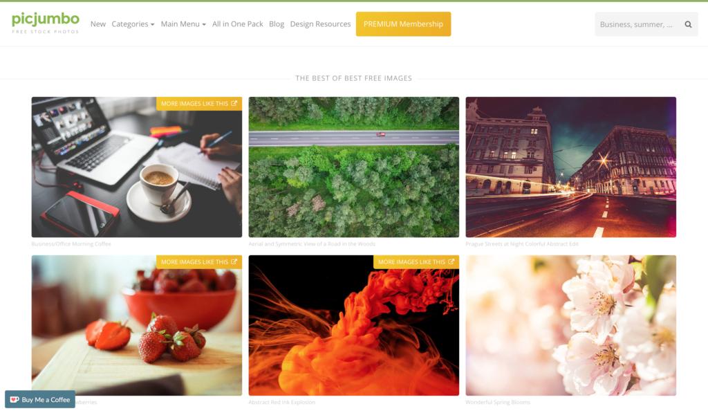 Picjumbo写真サイト