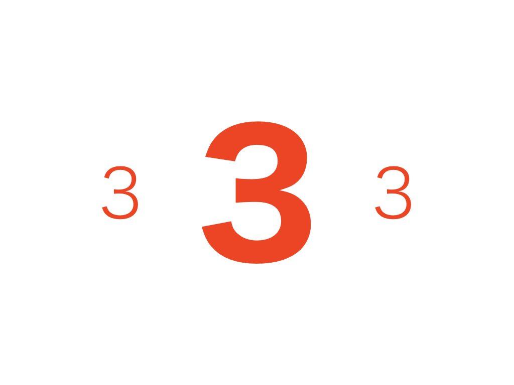 日本人が好きな数字の3効果