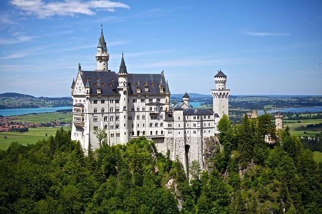 休みの日にお城へ行く