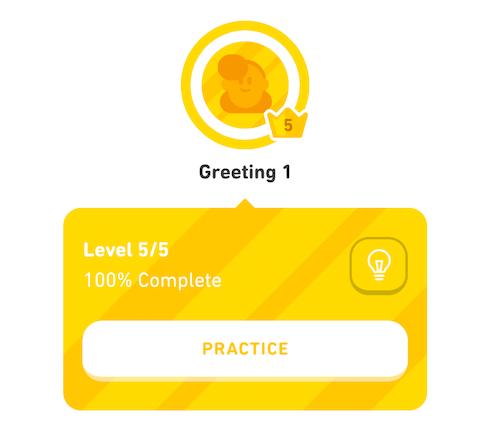 Duolingoの単元とレッスンとレベルの説明